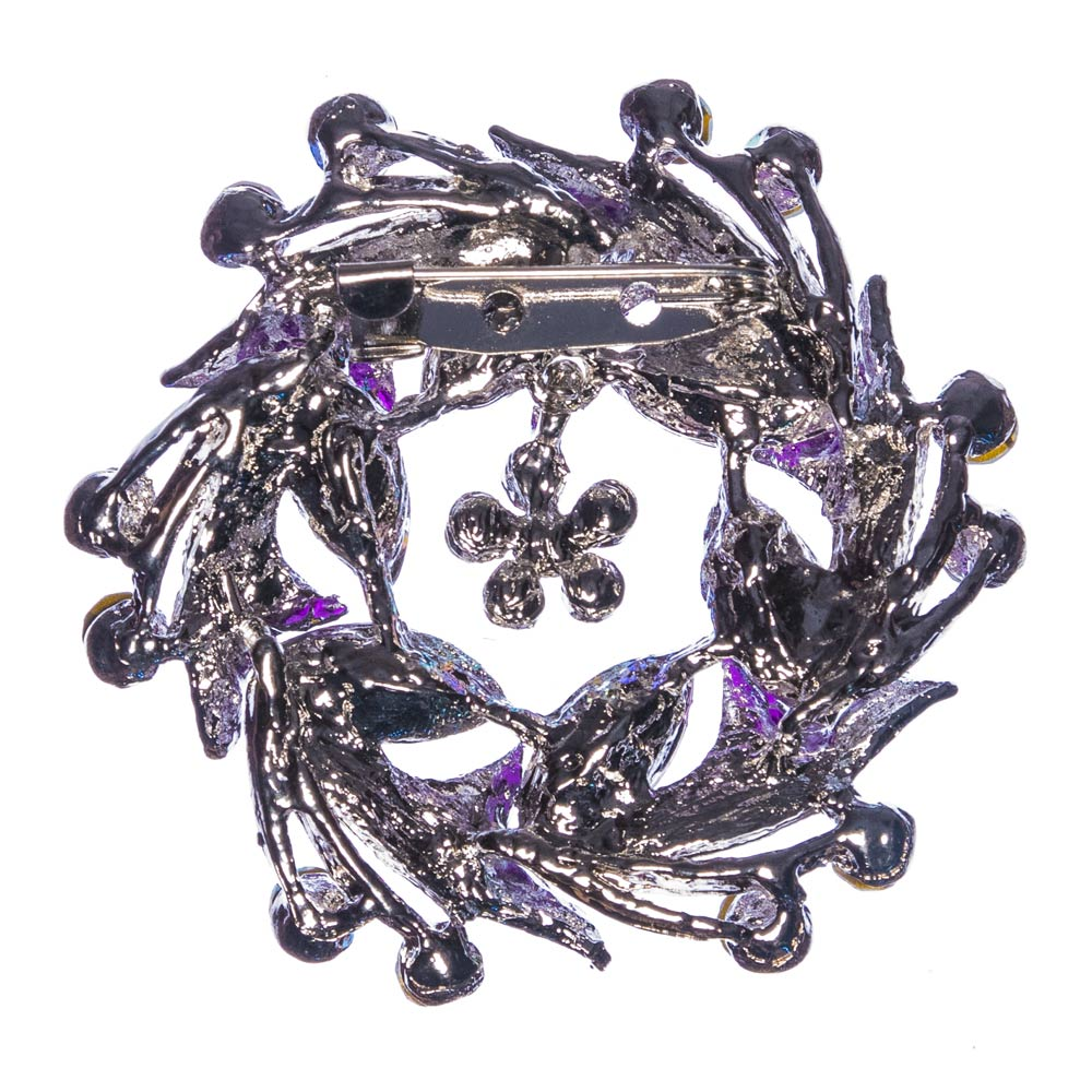 Giselle Purple Wreath Brooch