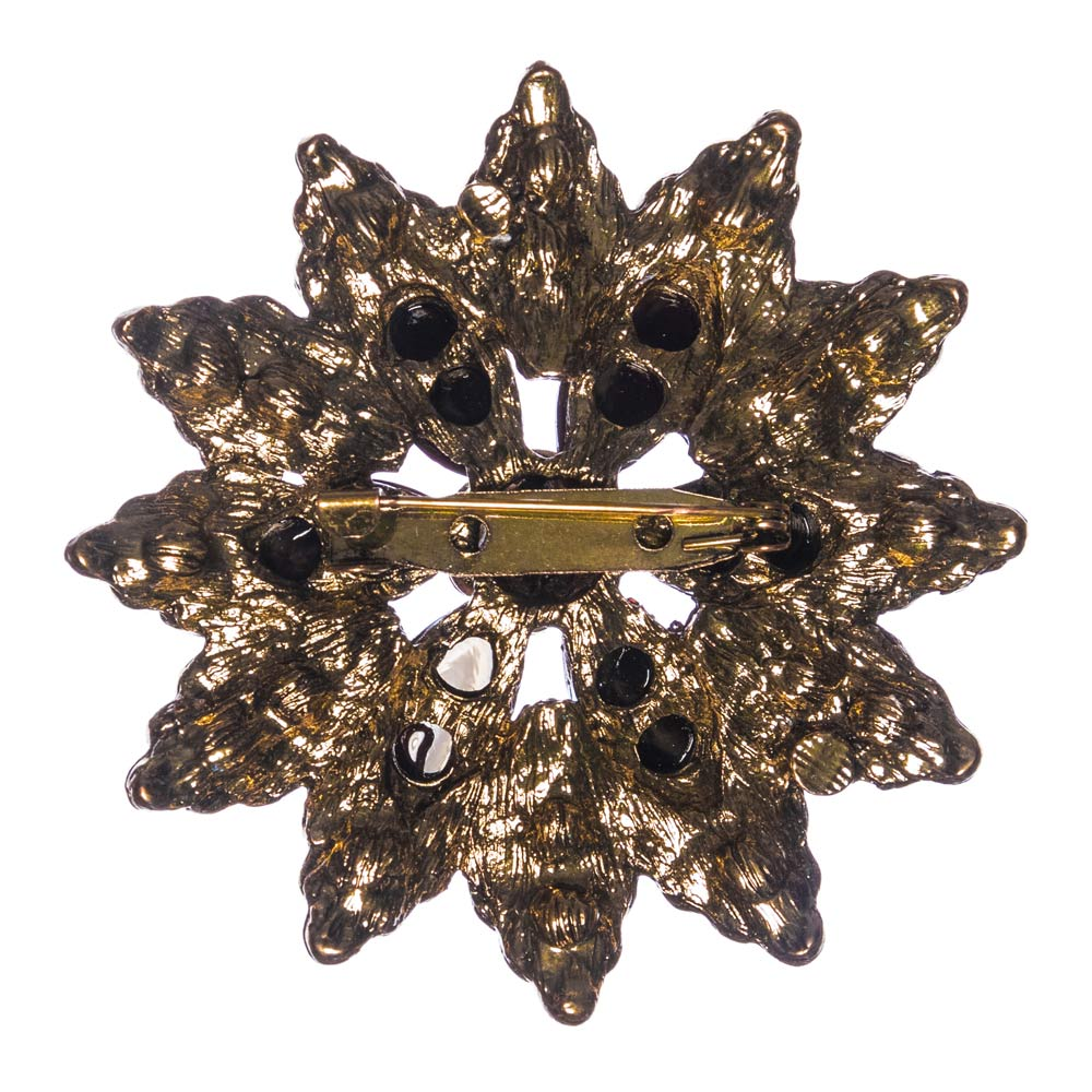 Harper Brown Flower Brooch