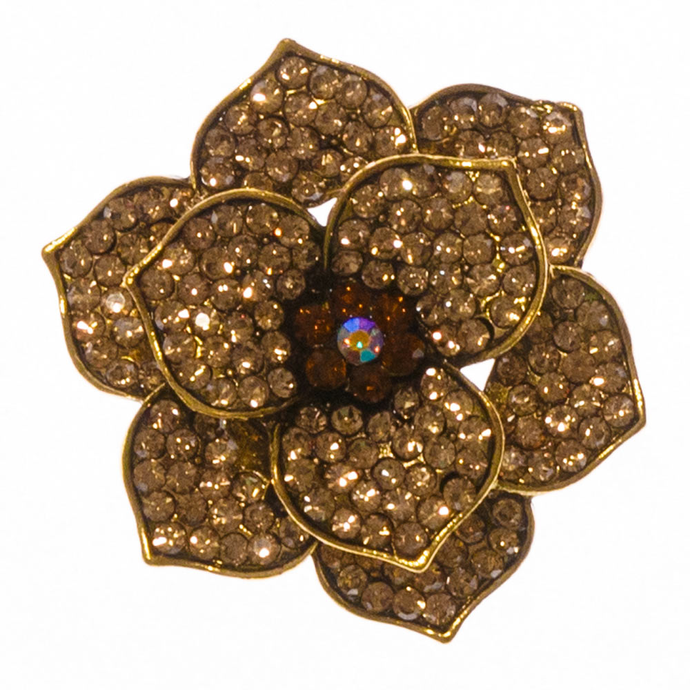 Ivy Gold Flower Brooch