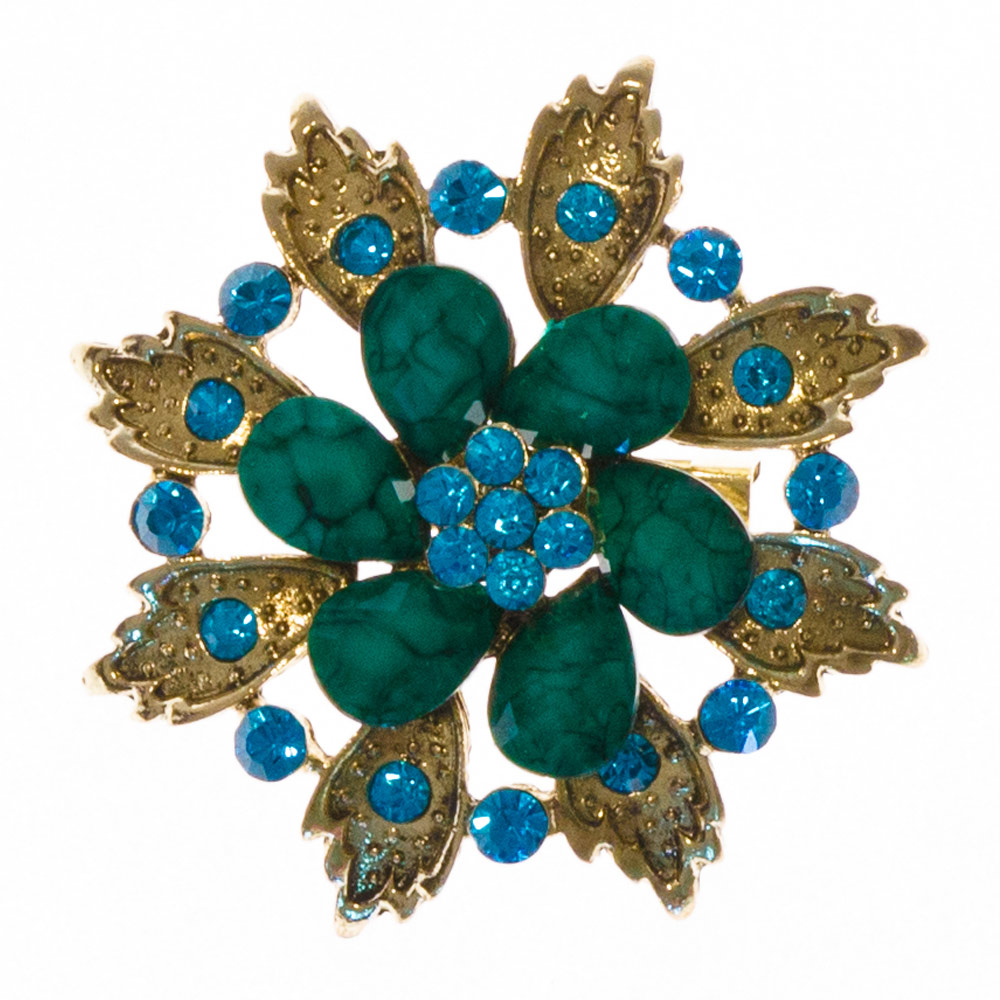 Java Green Stone Brooch