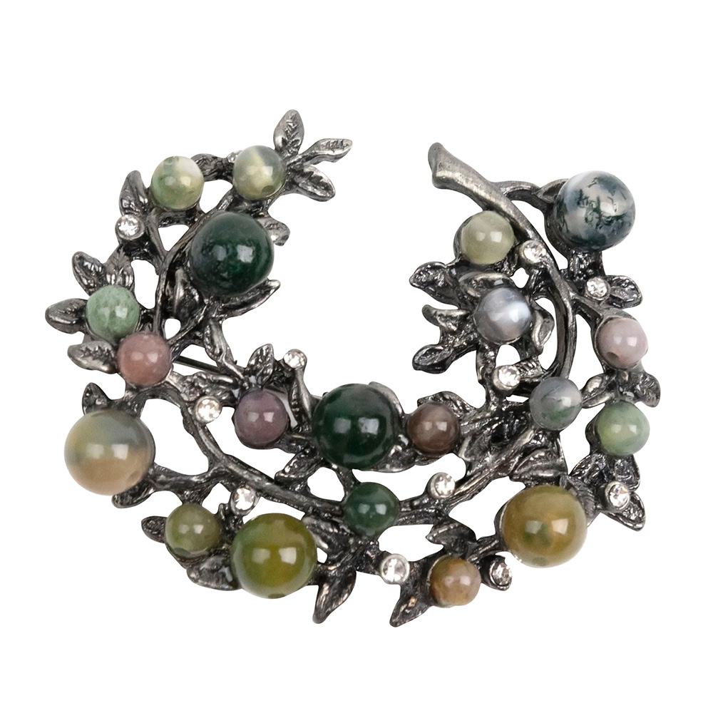 Katarina Wreath of Stones Brooch