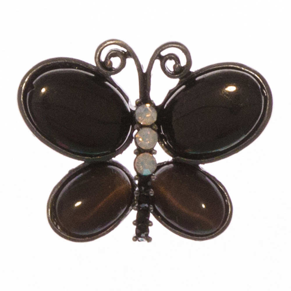 Mia Black Butterfly Brooch