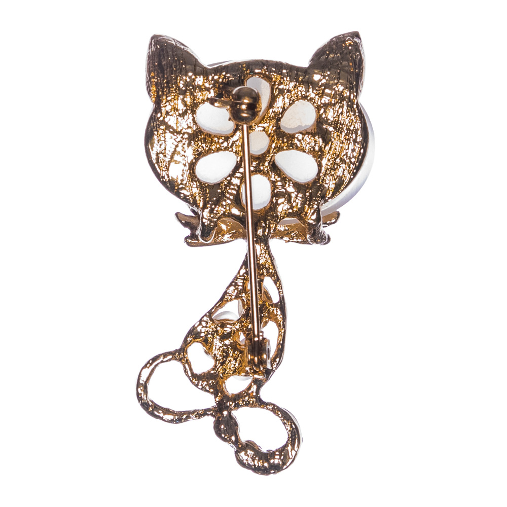 Monty the Cat Brooch
