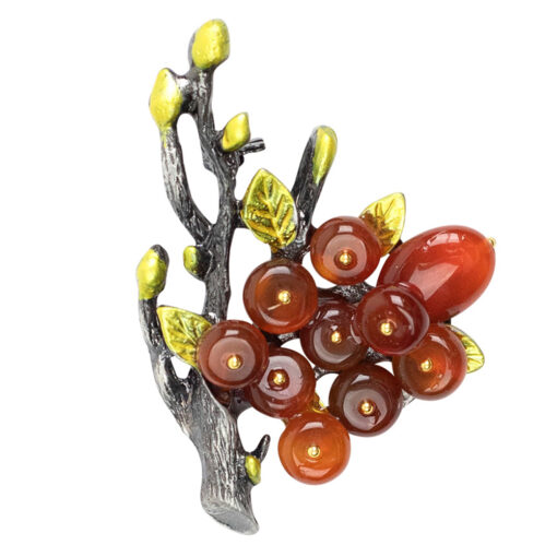 Phoebe Orange Tree Brooch