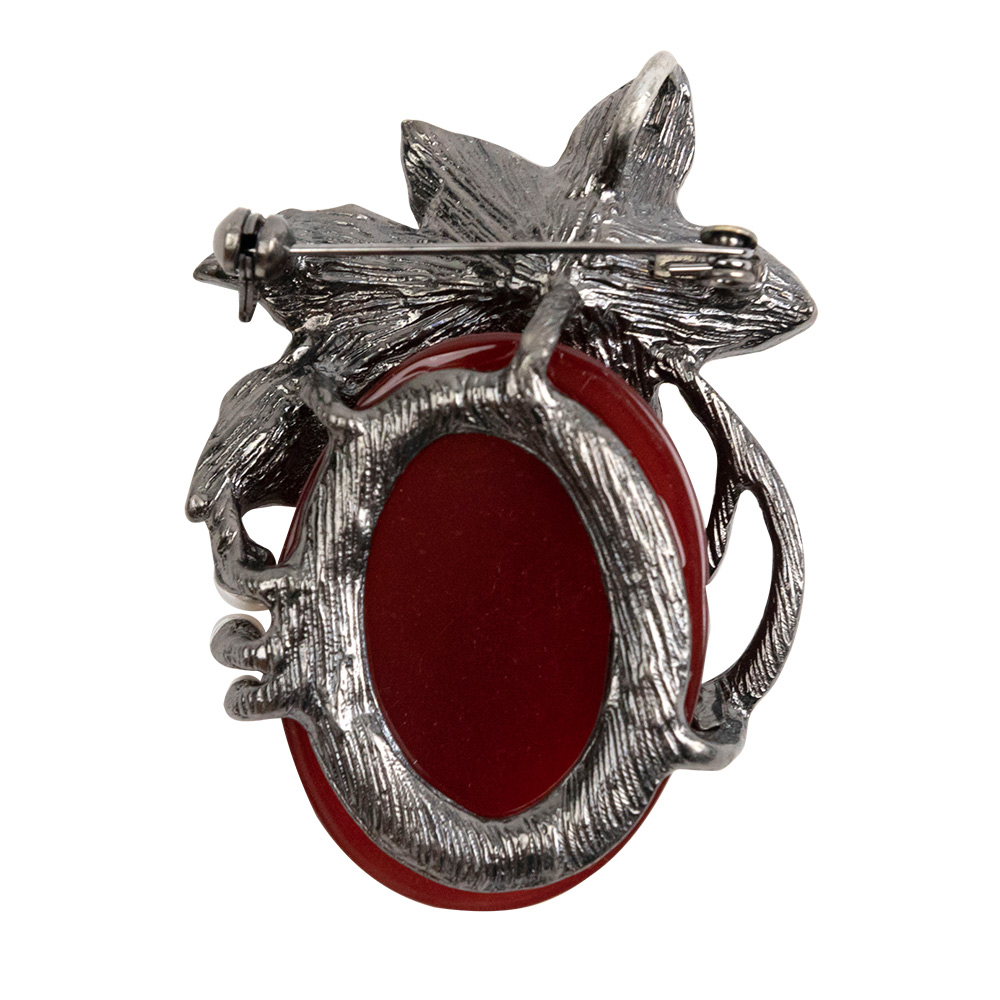 Susan Elegant Red Stone Brooch